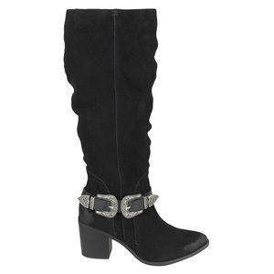 Naughty Monkey Natasha Western Buckle Suede Boots